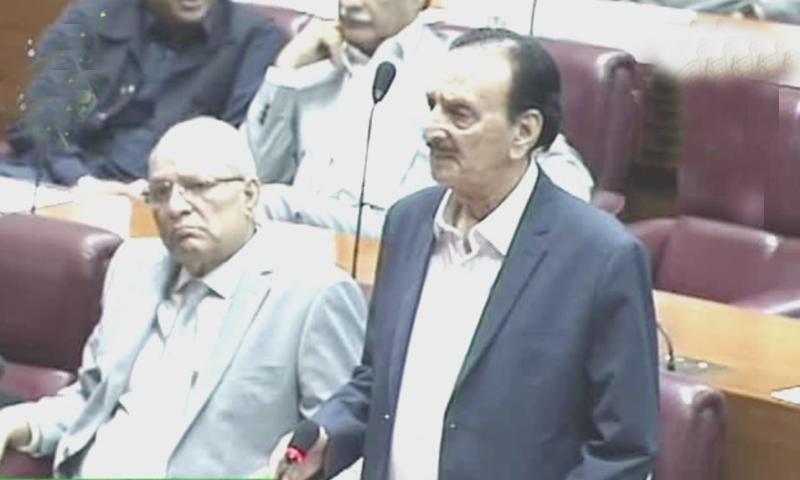 پاکستان تیار نہیں تھا، راجا ظفر الحق — فوٹو: ڈان نیوز