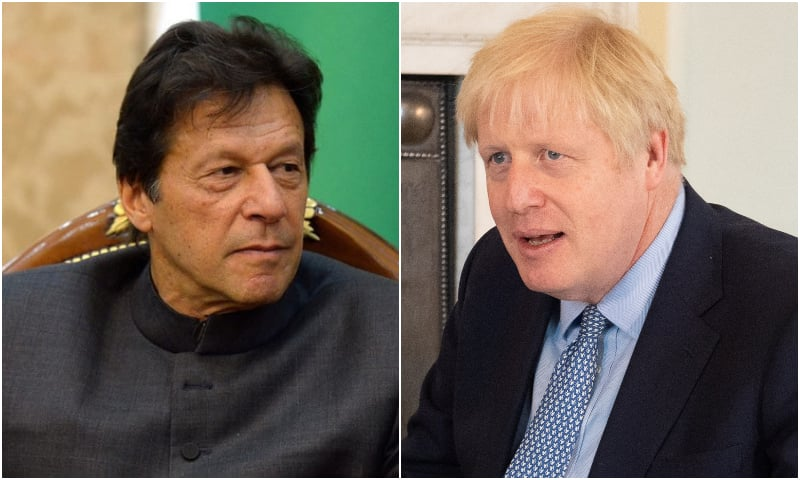 Prime Minister Imran Khan, UK Prime Minister Boris Johnson. — Reuters/Imran Khan Facebook