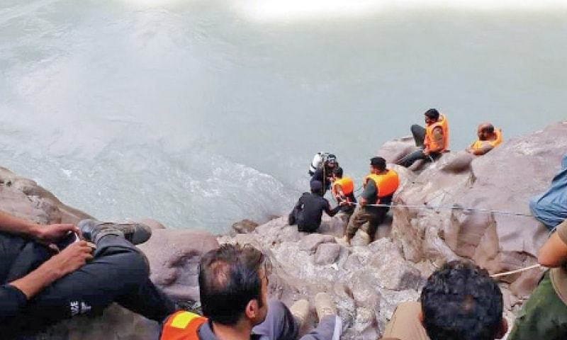 Rescue operation to recover remaining three women's bodies is underway. — Dawn/File