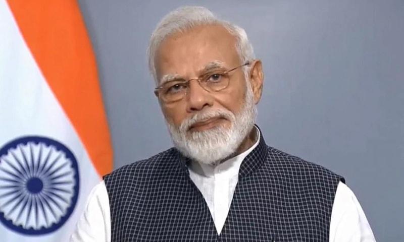 40 منٹ کے خطاب میں نریندر مودی نے مقبوضہ کشمیر اور لداخ میں حکومتی پالیسیوں کا تذکرہ کیا—فائل فوٹو: انڈیا ٹوڈے