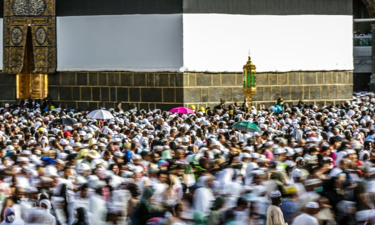 The Haj is one of the world's largest religious gatherings. — AFP