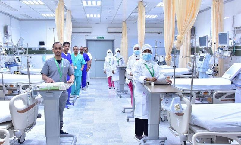 اب تک 2 لاکھ عازمین حج کو مفت طبی سہولیات فراہم کی گئی ہیں—فوٹو: سعودی وزارت صحت ٹوئٹر