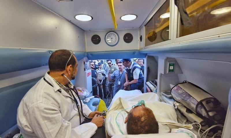 ایمبولینس سروسز پر بھی ماہر عملہ تعینات کیا گیا ہے—فوٹو: سعودی وزارت صحت ٹوئٹر