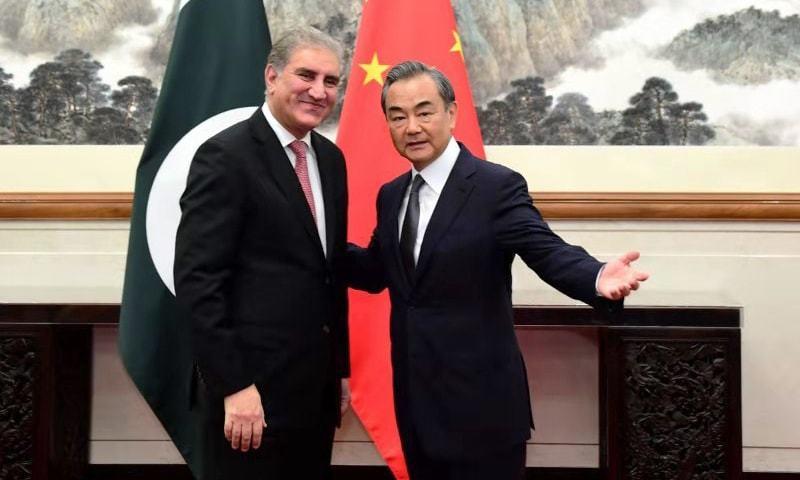 چینی وزیرخارجہ اور شاہ محمود قریشی کے درمیان ملاقات ہوئی—فوٹو: دفتر خارجہ