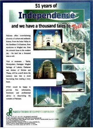 A Pakistan Tourism Development Corporation ad on August 14, 1998. — Dawn Archives