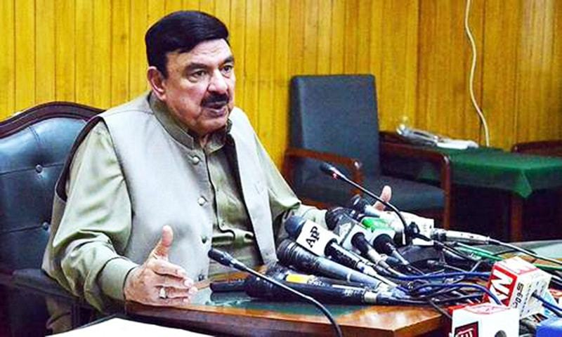 Minister for Railways Sheikh Rashid Ahmad has rejected the India's request to review decision of closing down rail operations of Samjhauta and Thar express trains. — APP/File