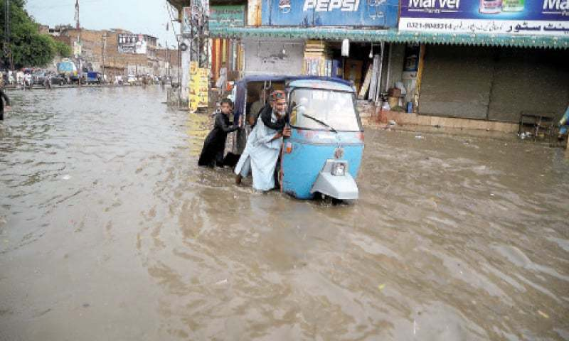 At least eight people were killed and 14 were injured when heavy rains lashed a large part of the province overnight.  Shahbaz Butt/File