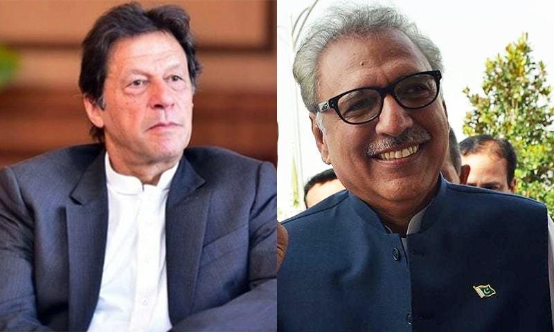 صدر مملکت عارف علوی اور وزیر اعظم عمران خان ایثار و قربانی جیسے عظیم جذبے کی اہمیت پر زور دیا— فائل فوٹوز: ڈان