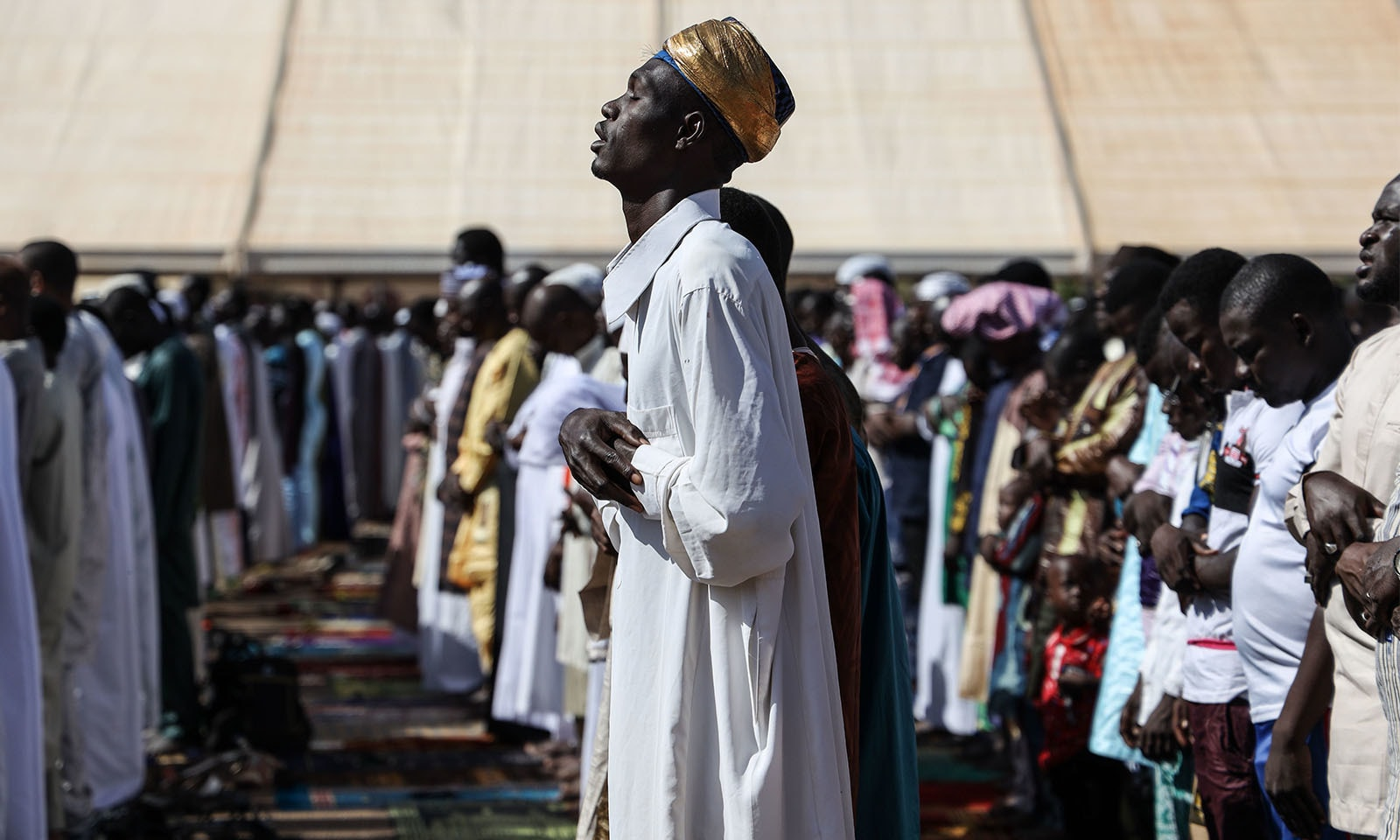 افریفی ممالک میں عید 11 اگست کو سعودی عرب کے ساتھ منائی گئی—تصویر:اے ایف پی