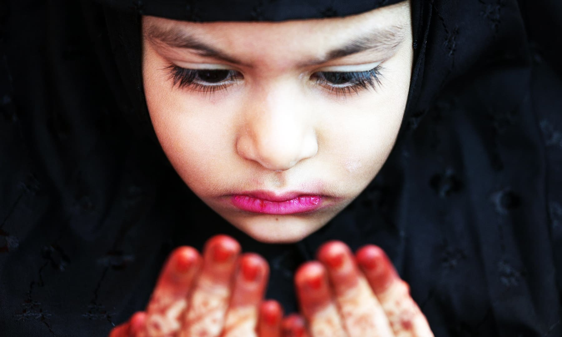 A Muslim girl offers an Eidul Azha prayer at a mosque in Chennai, India on August 12, 2019. — Reuters