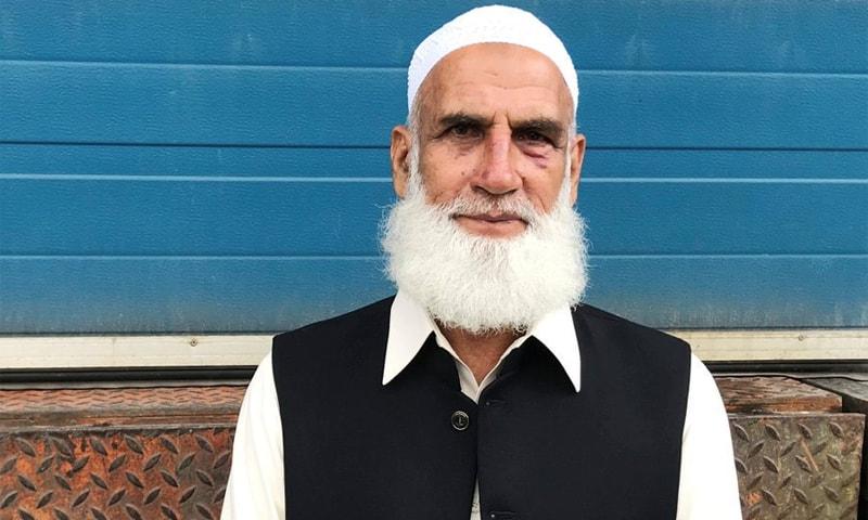 دہشت گرد حملے کو روکنے والے بہادر پاکستانی محمد رفیق — فوٹو بشکریہ ٹوئٹر