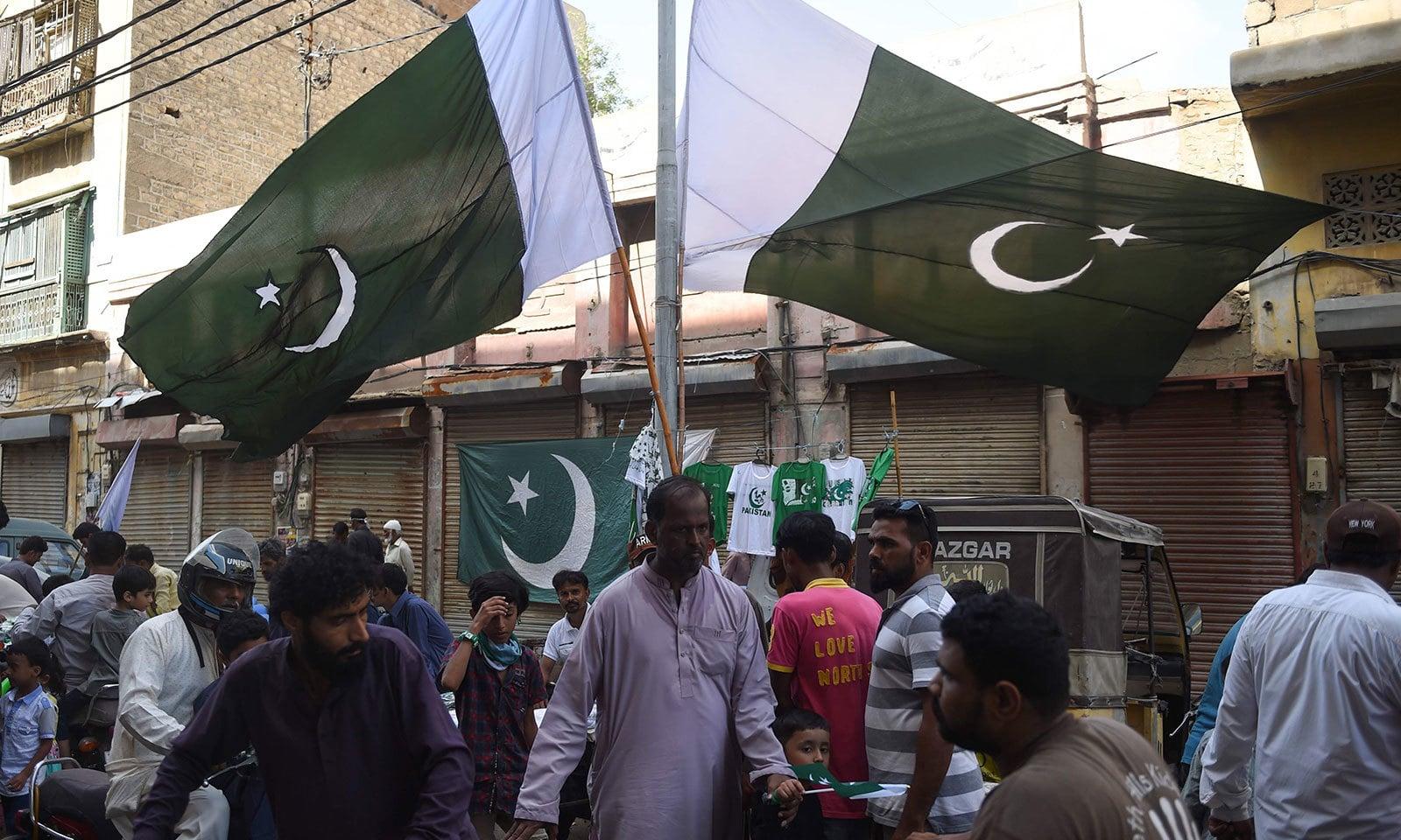 پاکستان کے سب سے بڑے شہر کراچی میں زیادہ گہماگہمی ہے—فوٹو:اے ایف پی