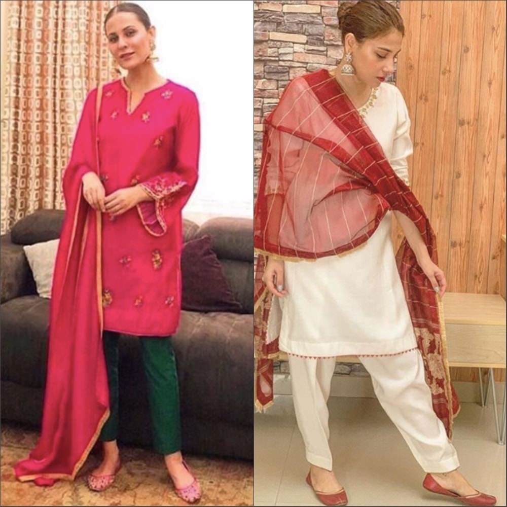 Nausheen Shah and Hina Altaf keeping it classic