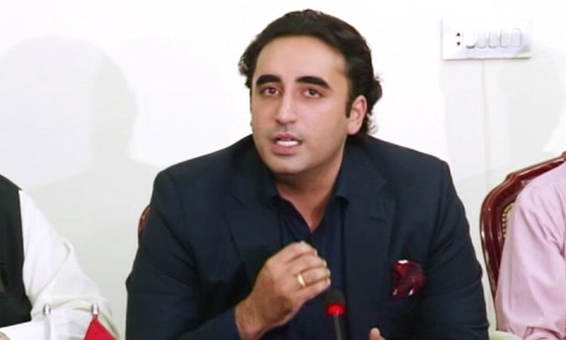 "Raising doubts over government's sincerity with the Kashmir cause, Pakistan Peoples Party (PPP) chairman Bilawal Bhutto-Zardari has said the government is ""not supporting the Kashmiris in an effective way"". — DawnNewsTV/File"