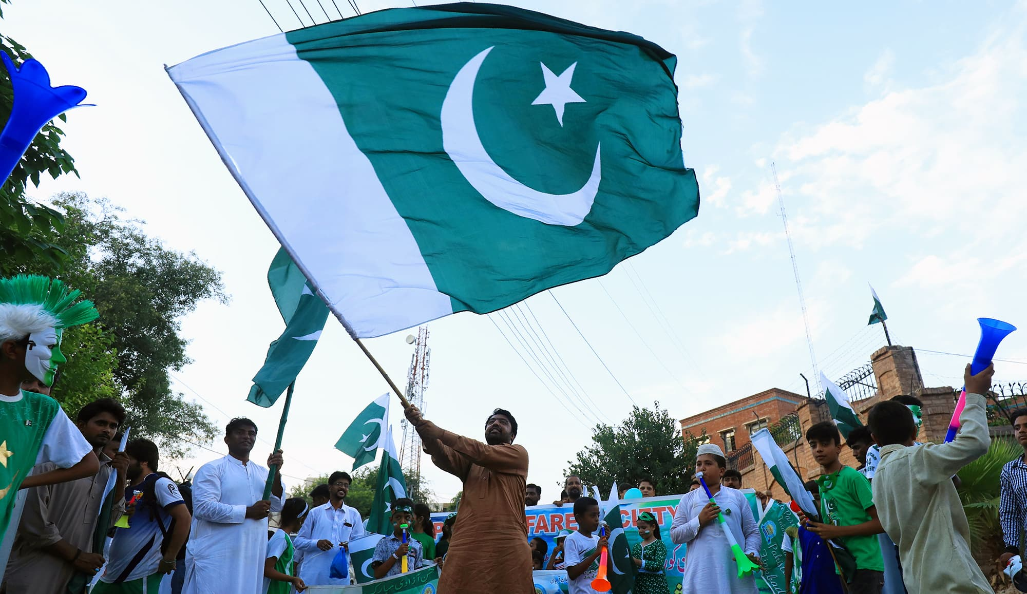 In pictures: Kashmir in focus as Pakistanis celebrate 72nd Independence Day