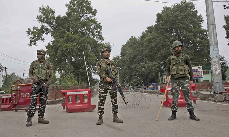 Security forces have been deployed outside mosques across Srinagar. — AP/File