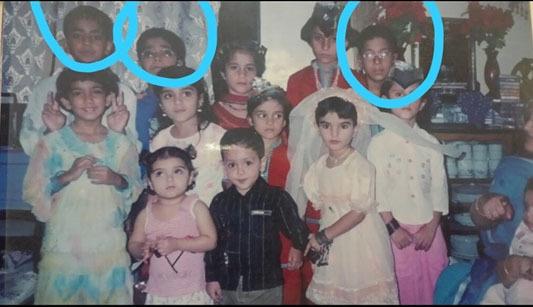 حمزہ، فیضان اور طلحہٰ کے بچپن کی تصویر