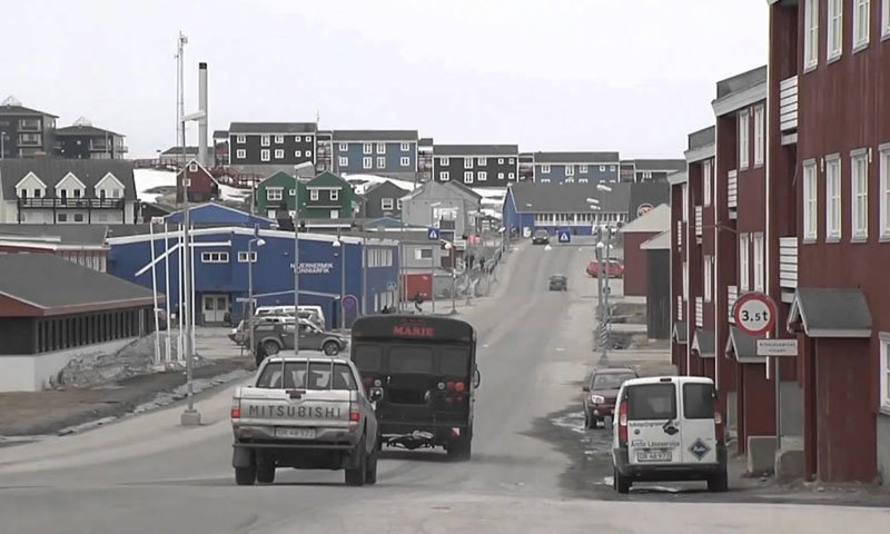 20 لاکھ مربع کلو میٹر سے زیادہ رقبے پر پھیلے گرین لینڈ کا درالحکومت نوک ہے—اسکرین شاٹ/ یوٹیوب