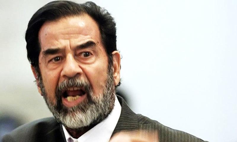 صدام حسین کو انسانیت کے خلاف جنگی جرائم کے تحت پھانسی کی سزا دی گئی تھی—فائل فوٹو: اے ایف پی