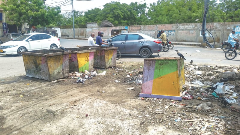 IT is hoped these dustbins, as seen in the DHA on Saturday, will soon be put to good use.—White Star