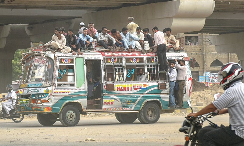 Public transport and the women of Karachi