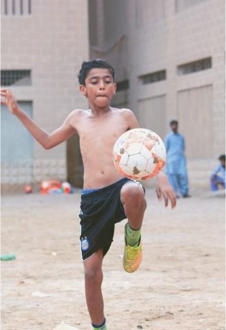 Sajjad, the big Christiano Ronaldo fan   Photos by the writer