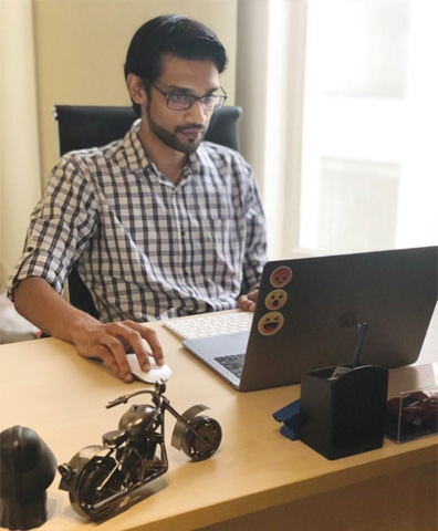 CEO Aadil Pasha gears up to get the wheels rolling for an online bike marketplace.
