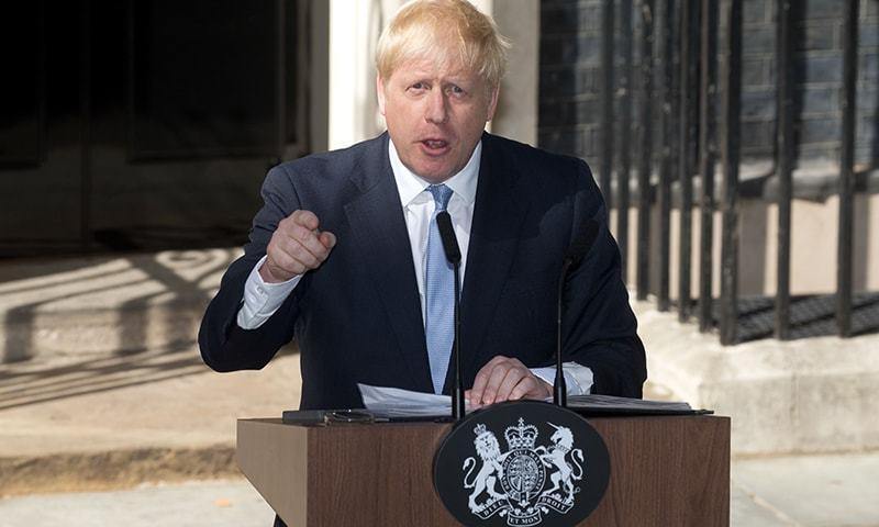 بورس جانسن 23 جولائی کو برطانیہ کے وزیر اعظم منتخب ہوئے تھے—فوٹو:اے ایف پی