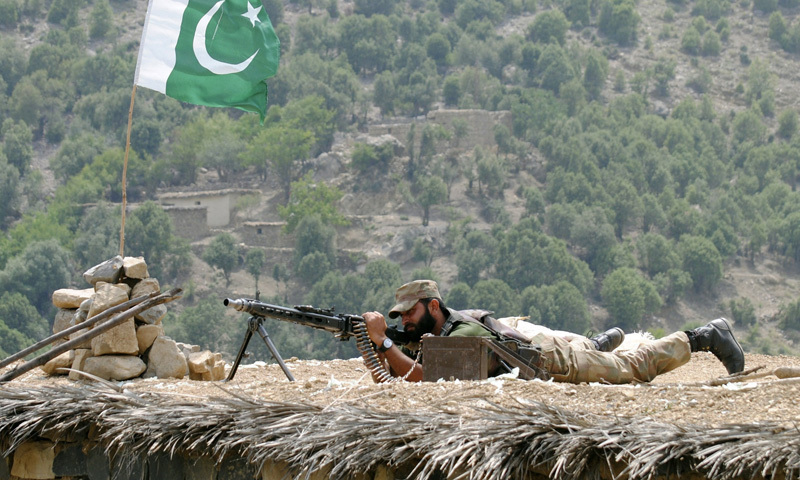 "Pakistan Army responds effectively to attack after which ""reportedly 2 Indian army soldiers were killed and many injured."" — AP/File"