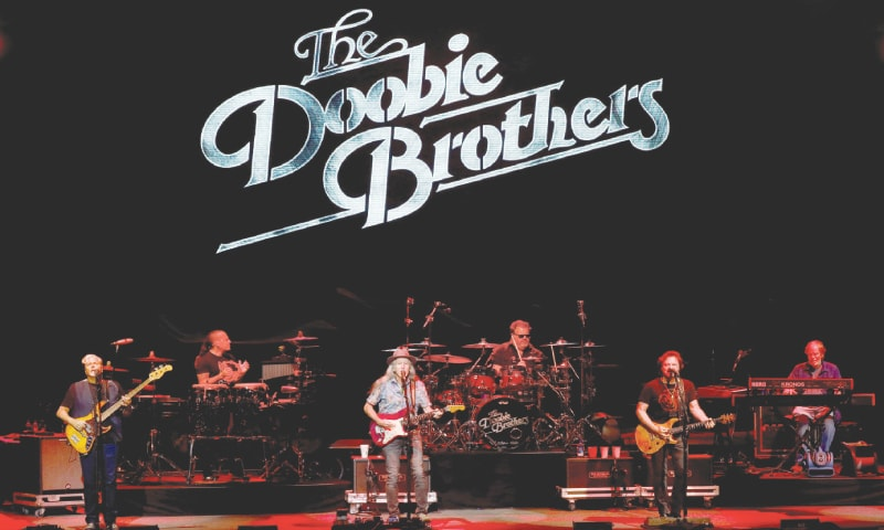 Bethel (New York, US): The Doobie Brothers perform on Saturday at the Bethel Woods Centre for the Arts, at the original site of the Woodstock Festival held 50 years ago.—Reuters