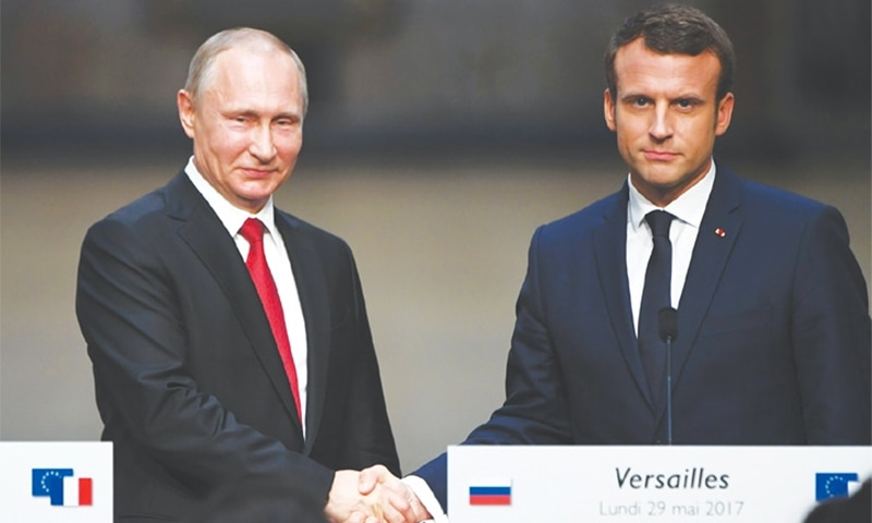 French President Emmanuel Macron has invited Russian President Vladimir Putin on Monday afternoon to his summer residence, the Fort de Bregancon on the French Riviera. — AFP/File
