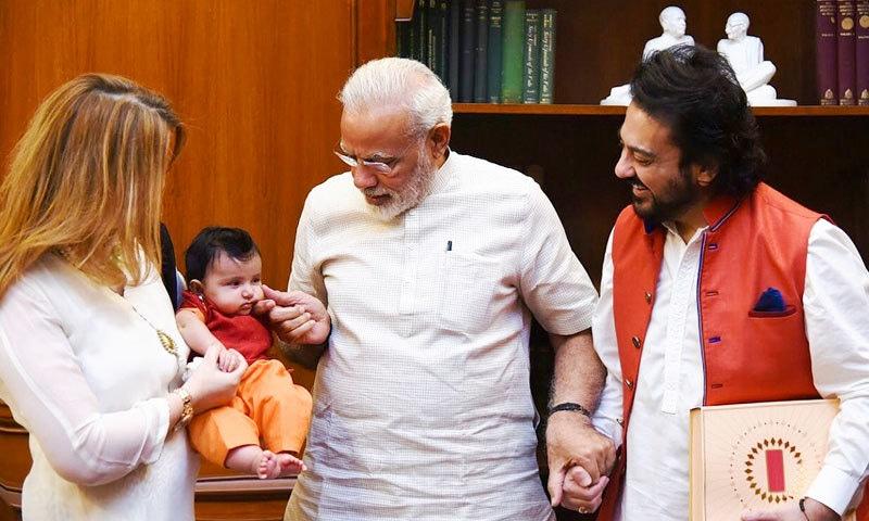 عدنان سمیع خان ستمبر 2017 میں پہلی بار بھارتی وزیر اعظم ہاؤس گئے تھے—فوٹو: انسٹاگرام