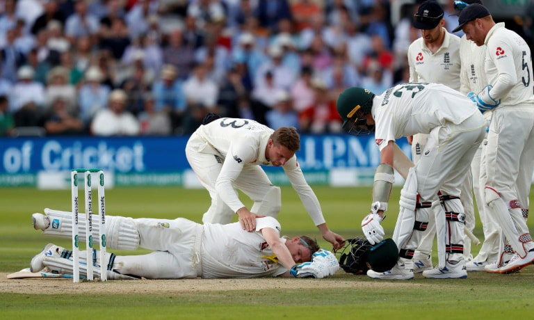 Star batsman Steve Smith will play no part in the third Ashes Test beginning on Thursday due to the concussion he suffered in the second Test. — AFP