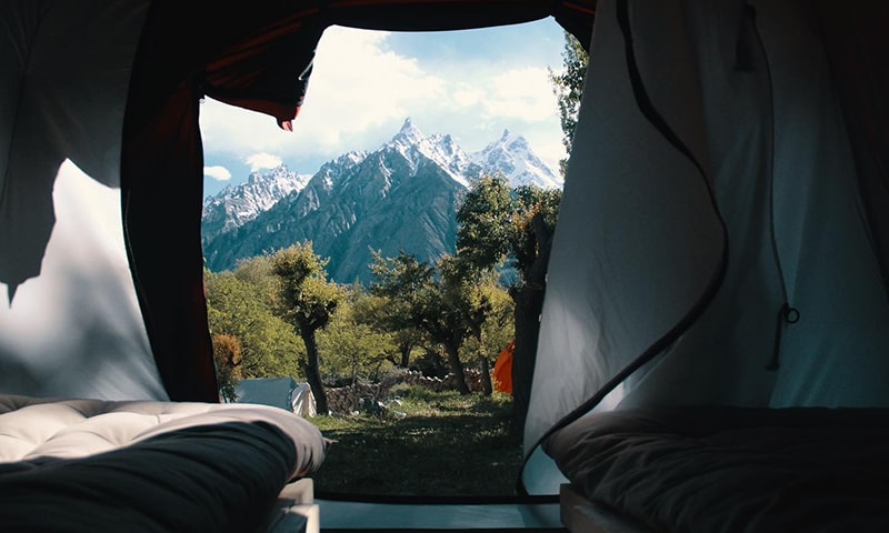 A tent with a view.—All photos from Khanabadosh Baithak