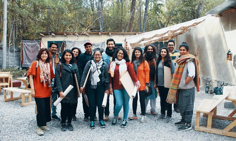 Natasha Japanwala with participants of her writing residency.