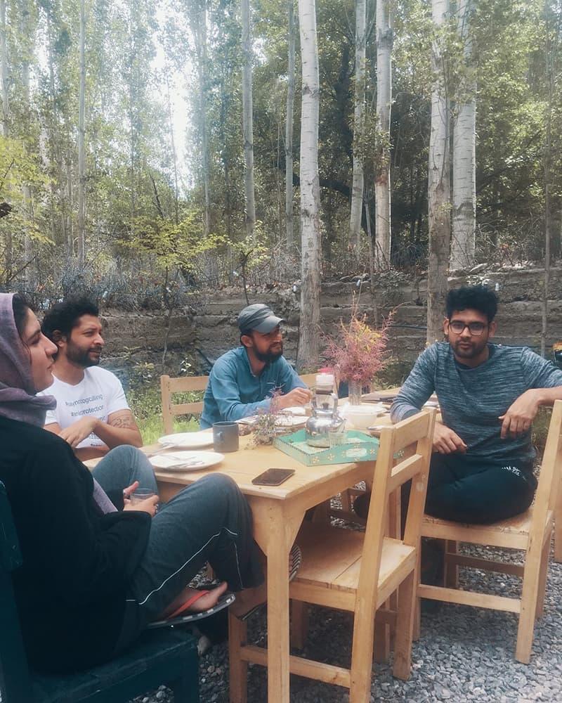 Zain Mustafa's architectural residency participants at Khanabadosh Baithak.