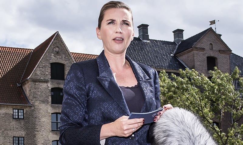 Denmark's Prime Minister Mette Frederiksen talks to the press after US President cancelled his state visit after her government said its territory Greenland was not for sale on Wednesday in Copenhage, Denmark. — AFP