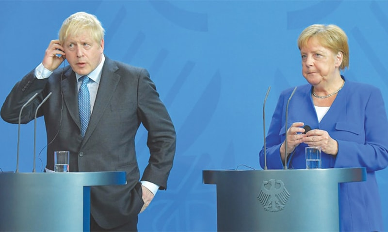 UK can't accept Brexit terms, Johnson tells Merkel