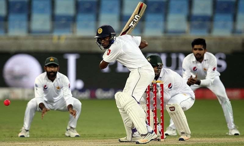 پاکستان اور سری لنکا کے درمیان رواں سال ٹیسٹ سیریز شیڈول ہے جو ورلڈ ٹیسٹ چیمپیئن شپ کا حصہ ہے— فائل فوٹو: اے ایف پی