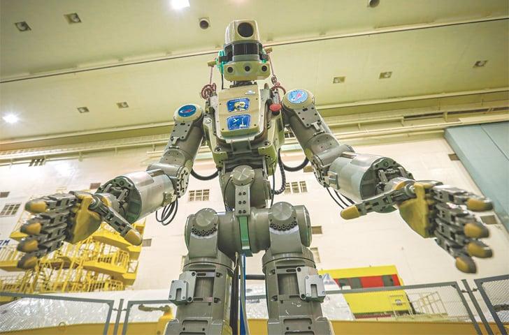 HUMANOID robot Fedor.—AP
