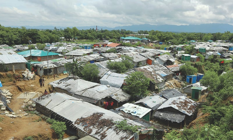 Cox's Bazaar (Bangladesh): A general view of Nayapara Rohingya refugee camp.—AP