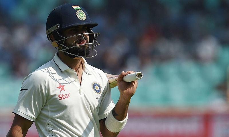 Kohli falls cheaply as India struggle