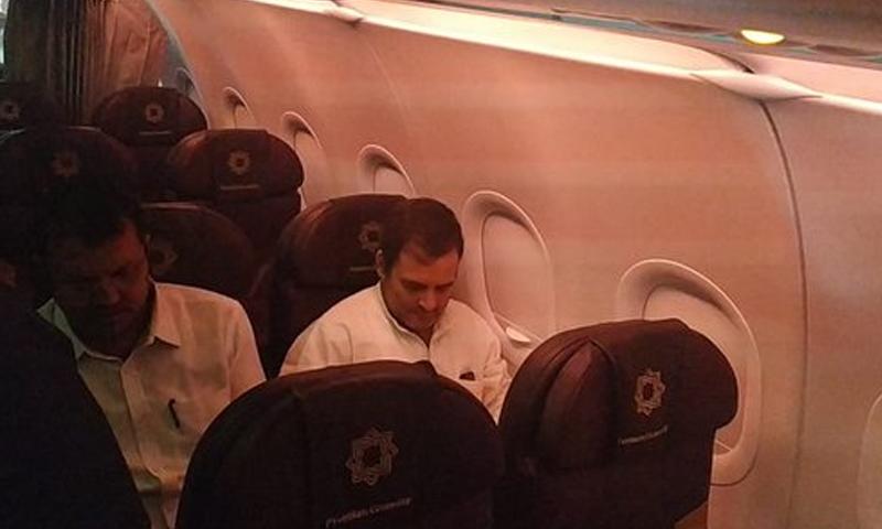 راہول گاندھی اور دیگر رہنماؤں کو سری نگر میں داخل ہونے کی اجازت نہیں دی گئی—فائل فوٹو: اے این آئی ٹوئٹر