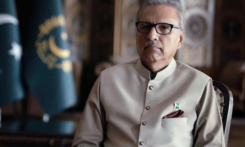 صدر عارف علوی نے واضح کیا کہ پاکستان جنگ کا آغاز نہیں چاہتا — فوٹو: ٹوئٹر