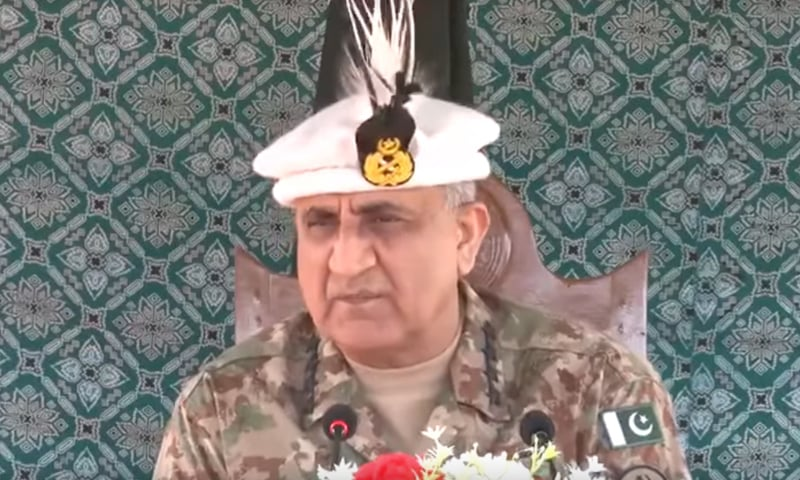 پاک فوج کے سربراہ نے افسران و جوانوں سے خطاب کیا—فوٹوَ: آئی ایس پی آر