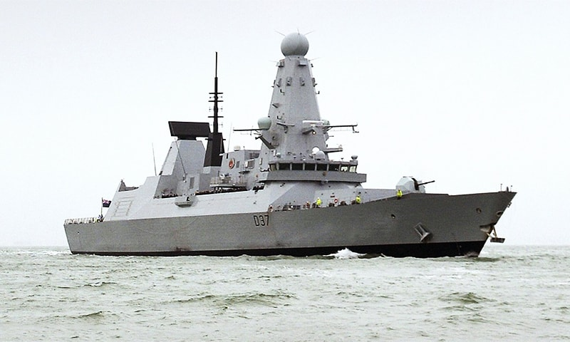 Britain is now redirecting the Type 45 destroyer HMS Defender from its mission to the Pacific. — AFP/File
