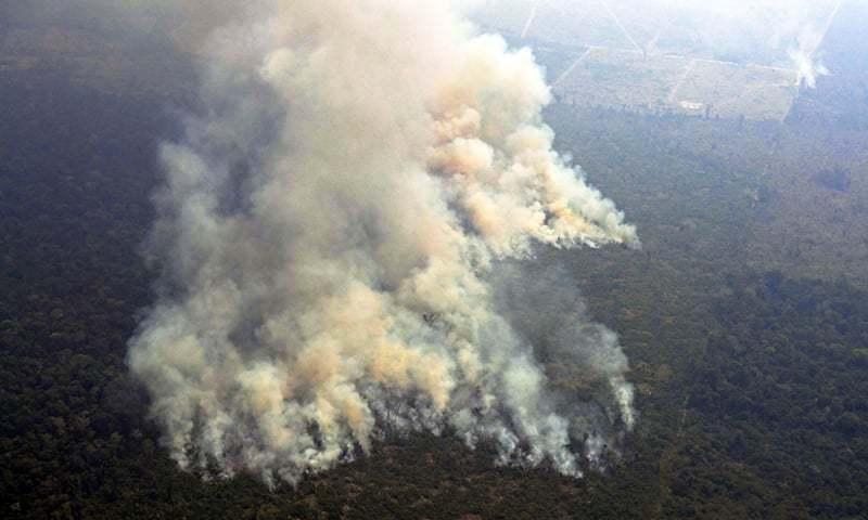 رپورٹس کے مطابق کم از کم ایک ہزار 663 مقامات پر نئی آگ بھڑک اٹھی—فوٹو: اے ایف پی