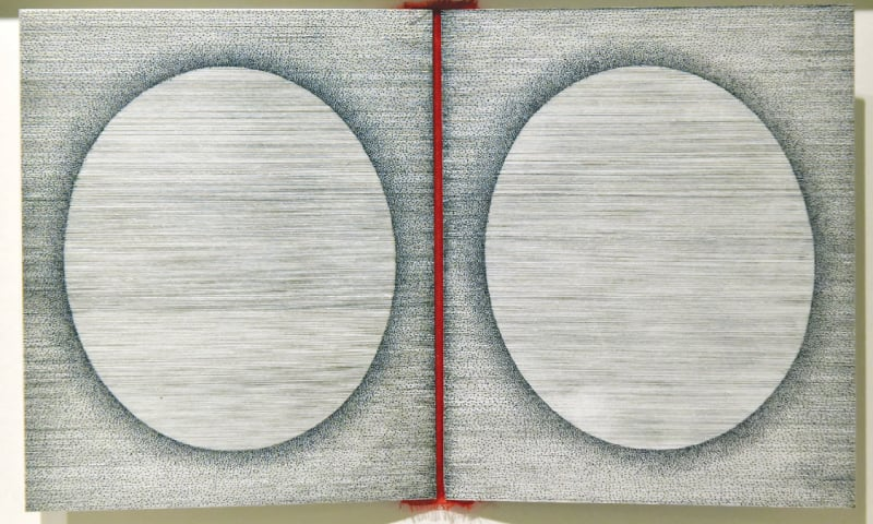 Two of the artworks on display at the exhibition.—White Star
