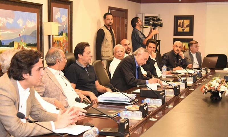 Prime Minister Imran Khan on Saturday held a meeting with his economic team to prepare a comprehensive economic roadmap under which decisions to improve performance of relevant ministries would be taken and issues like construction of dams or roads or bringing investment for the economic zones would be addressed. — Photo courtesy Radio Pakistan