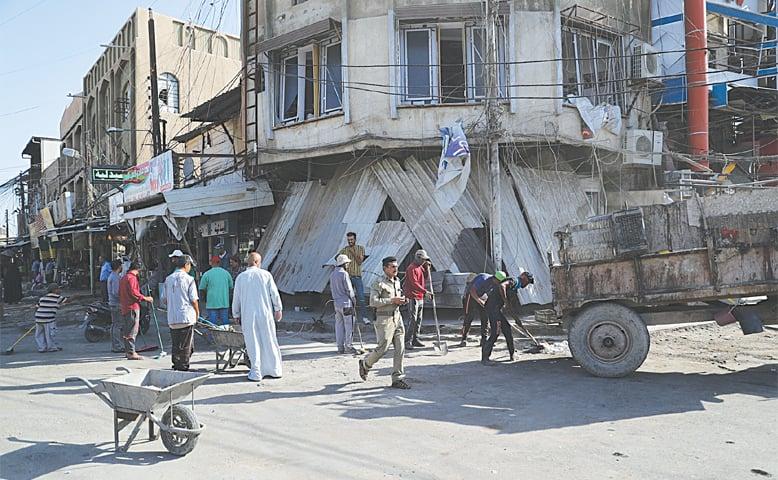 Explosion in Iraq near mosque kills three